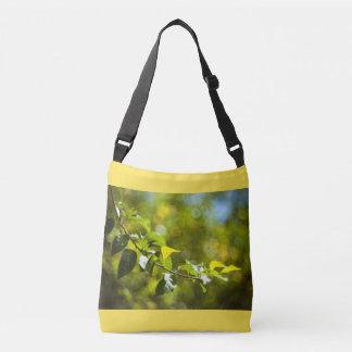 Folhas e bokeh bolsa ajustável