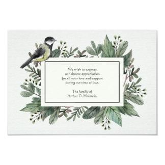 Folhas e cartões de agradecimentos do falecimento convite 8.89 x 12.7cm
