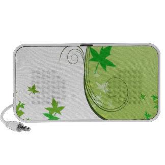 Folhas esverdeados bonitas e redemoinhos caixinha de som para iPhone