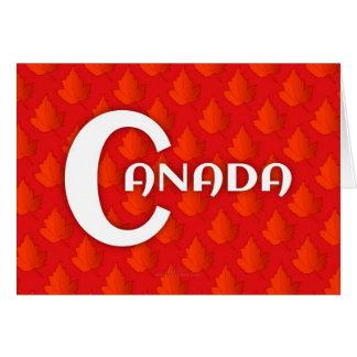 Folhas felizes do Dia-Bordo de Canadá Cartão Comemorativo
