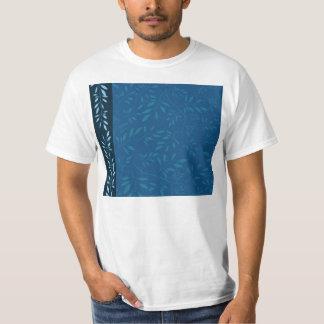Folhas florais azuis de inspiração tshirts