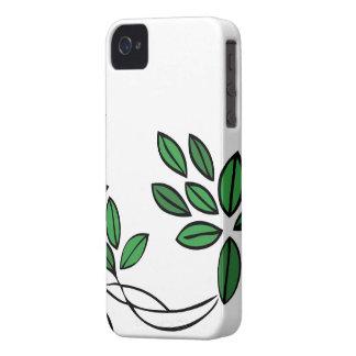 Folhas florais do verde das capas de iphone