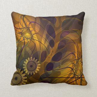 Folhas, flores e travesseiro artísticos dos padrõe