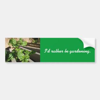 Folhas frescas da manjericão adesivo para carro