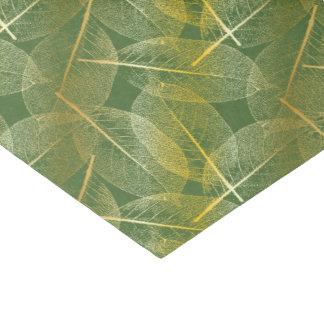 Folhas no verde - lenço de papel do ouro