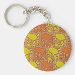 folhas ou limões do design do amarelo alaranjado d chaveiro