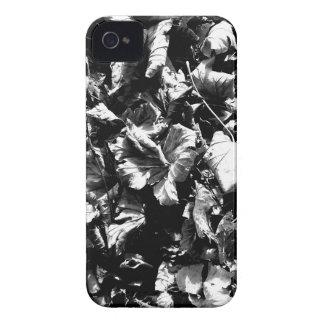 Folhas pretas & do branco capinha iPhone 4