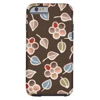 folhas & teste padrão floral capa tough para iPhone 6