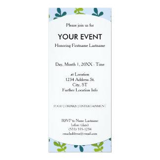 Folhas tropicais de Ombre Convite 10.16 X 23.49cm