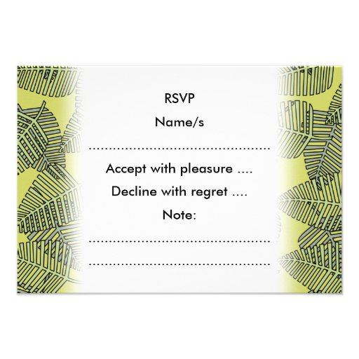Folhas tropicais em cores verdes convite personalizados