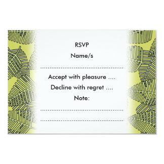 Folhas tropicais em cores verdes convite 8.89 x 12.7cm