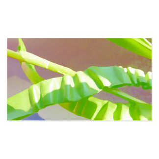Folhas verde-clara cartão de visita