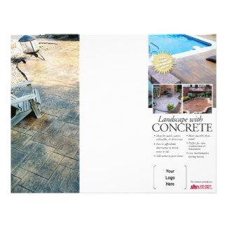 Folheto ajardinando concreto para Solomon Flyer 21.59 X 27.94cm