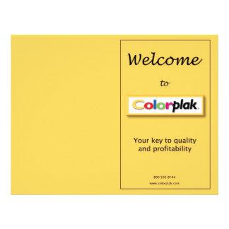 Folheto da fixação do preço de Colorplak Flyer 21.59 X 27.94cm