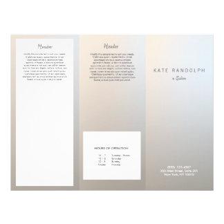 Folheto de prata luminoso moderno dos termas do