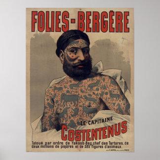 Folies-Bergère Le Capitaine Costentenus Pôster