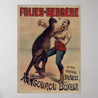 Folies-Bergère o poster do pugilista do canguru