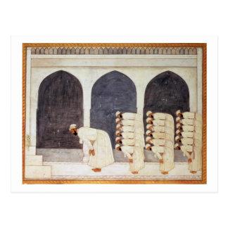 Folio.38a um príncipe do líder em uma mesquita que cartão postal