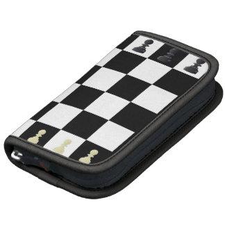 Fólio do conselho de xadrez organizadores