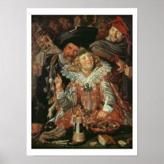 Foliões de Shrovetide (a Feliz Empresa) c.1615 (o Pôsteres