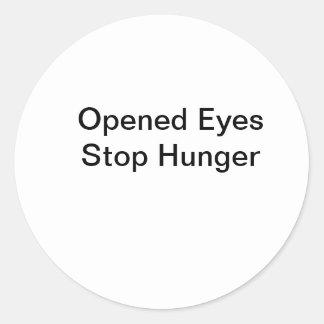 Fome aberta da parada dos olhos adesivo