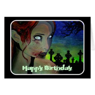 """""""Fome cartão de aniversário na noite esmeralda"""""""