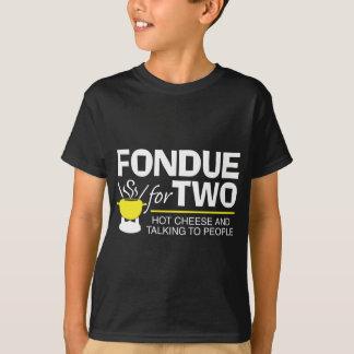 Fondue para dois camiseta
