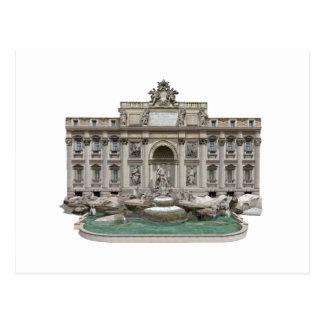 Fontana di Trevi: Fonte do Trevi: modelo 3D: Cartao Postal