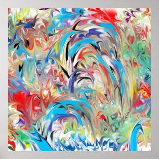 Fonte abstrata da cor pôster