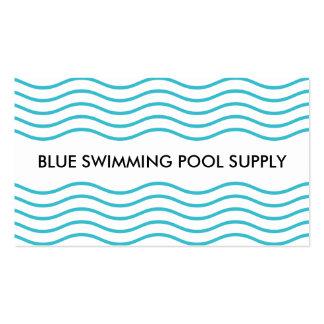 Fonte da piscina cartão de visita