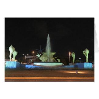 Fonte de Caracol da plaza, cartão de Cancun