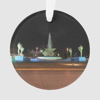Fonte de Caracol da plaza, ornamento de Cancun