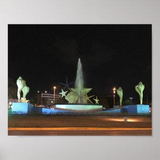 Fonte de Caracol da plaza, poster de Cancun