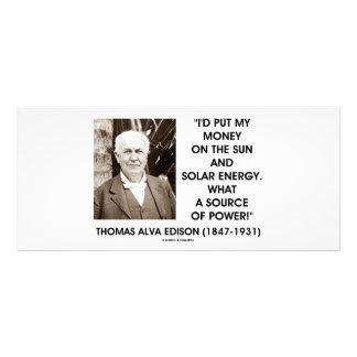 Fonte de energia solar de Thomas Edison Sun de 10.16 X 22.86cm Panfleto
