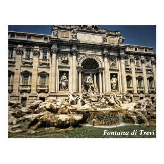 Fonte do Trevi, Fontana di Trevi, Roma, Italia Cartão Postal