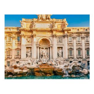 Fonte do Trevi no cartão de Roma