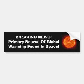 Fonte primária de aquecimento global adesivo para carro