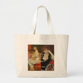 Fonte principal do amor nas obra-primas de Renoir Bolsa Tote Grande