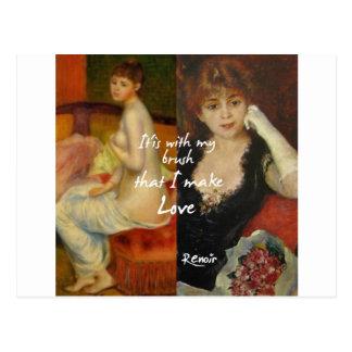 Fonte principal do amor nas obra-primas de Renoir Cartão Postal