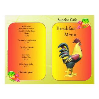 Fontes do restaurante galo do pequeno almoço de S Panfletos Coloridos