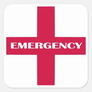 Fontes dos primeiros socorros/jogo da emergência adesivo quadrado