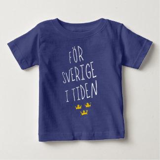 För Sverige mim camiseta sueco da divisa de Tiden