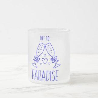 Fora à caneca do vidro de fosco do paraíso