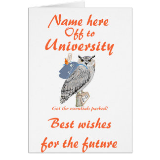 Fora à universidade cumprimentos a coruja cartões