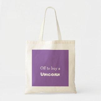 Fora de para comprar um bolsa do unicórnio do