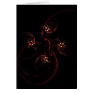 Fora do cartão de nota escuro da arte abstracta