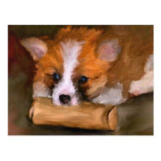 Fora do cartão de papel do cão do Corgi