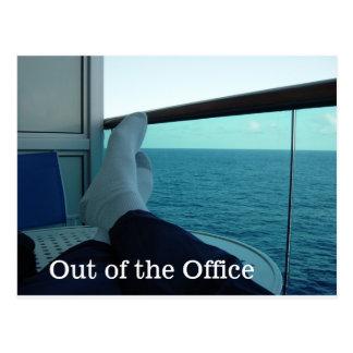 Fora do cartão do escritório