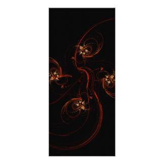 Fora do cartão escuro da cremalheira da arte 10.16 x 22.86cm panfleto