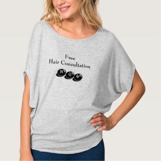 Fora do T do salão de beleza do ombro Camiseta